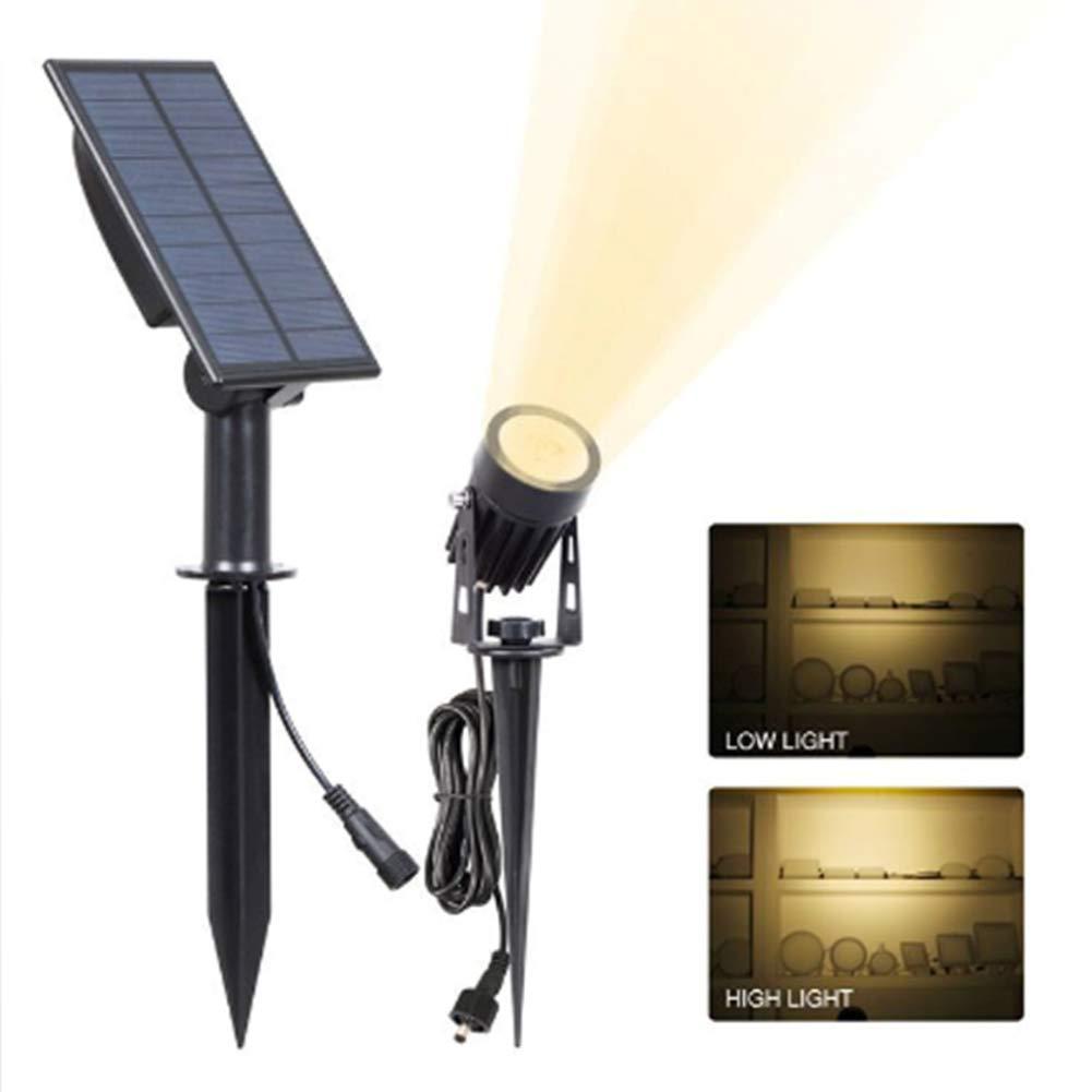 Luci Solari, 2-In-1 Impermeabile 1 LED Riflettore Solare Regolabile Luce Muro Paesaggio Luce Di Sicurezza Illuminazione Per Patio Terrazza Giardino Area Piscina Vialetto (2 Pack),3Wbiancalight(6000K)