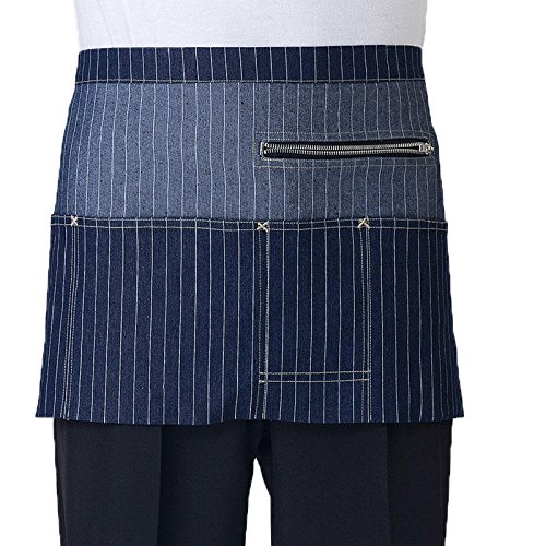 Apron Cafe - Short Waist Fashion Zipper Denim Apron Jean Coffee Shop And Hairdresser Cooking Bib - Soft Rise Comfort Cold Green Long Large Wool Front Boxer Classic Funny Briefs Tall Sports Strap