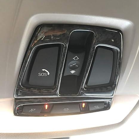 Techo de fibra de carbono Luz de lectura del techo del coche Decoración Marco Cubierta Ajuste ...