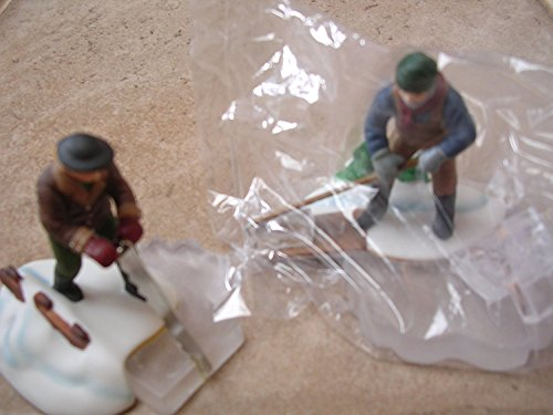 (Department 56 Heritage Village Collection ; New England Village Blue Star Ice Harvesters Set of 2 ; 1993 Retired ; Handpainted Porcelain Accessories)