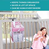 Baby Crib Diaper Caddy - Hanging Diaper Organizer