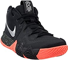 Nike Mens Kyrie 4 Basketball Shoe Black Metallic Silver (11) 08ad19d53b