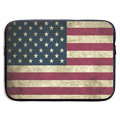 Clasic USA American Flag Laptop Sleeve Case Bag Cover for Apple MacBook/Asus/Acer/Samsung/DELL/HP/Lenovo/Sony/RCA Computer 15 -
