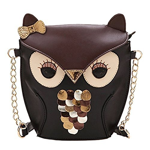 Nuovo moda donna in pelle borsetta Cartoon Owl Fox borse a tracolla