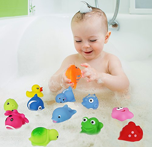 Click N Play Assorted Colorful Bath Squirters 12 Pack