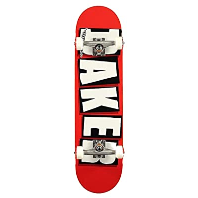 "Baker Skateboards Factory Assembled Complete Logo Red/White 8.0"" : Sports & Outdoors"
