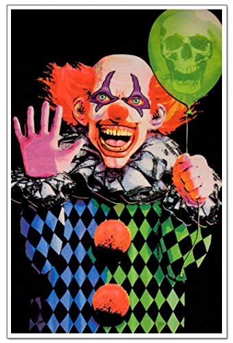 Evil Clown Blacklight Poster 23 x 35in]()