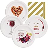 Wine Party Assorted Plates