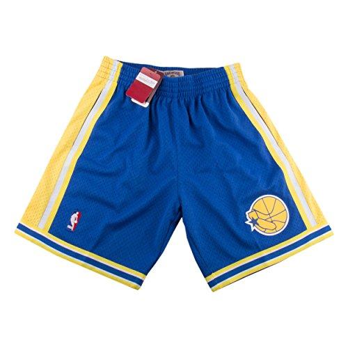 Mitchell & Ness Mens Golden State Warriors Swingman Shorts Blue/Yellow Size XL