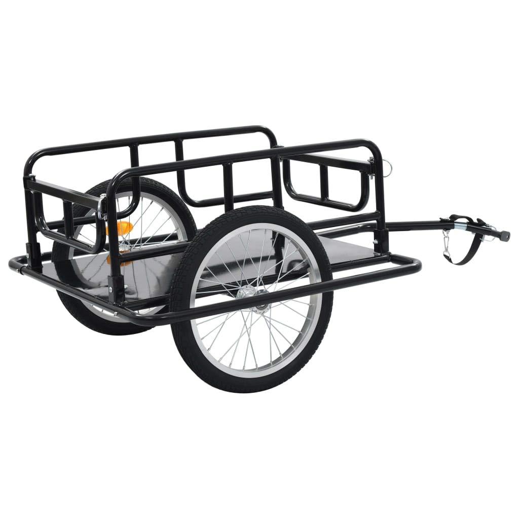 Canditree Bike Cargo Trailer 51.2''x28.7''x19.7'' Steel Black by Canditree