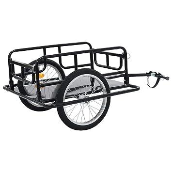 "2019 New Bike Cargo Trailer 51.2/""x28.7/""x19.7/"" Steel Black"