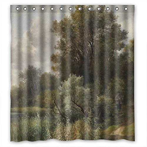 Beeyoo Beautiful Scenery Landscape Painting Bathroom Curtain