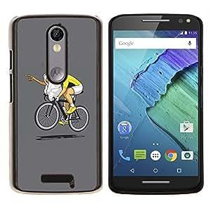 EJOOY---Cubierta de la caja de protección para la piel dura ** Motorola Moto X3 3rd Generation ** --Carrera divertido E.T bicicletas