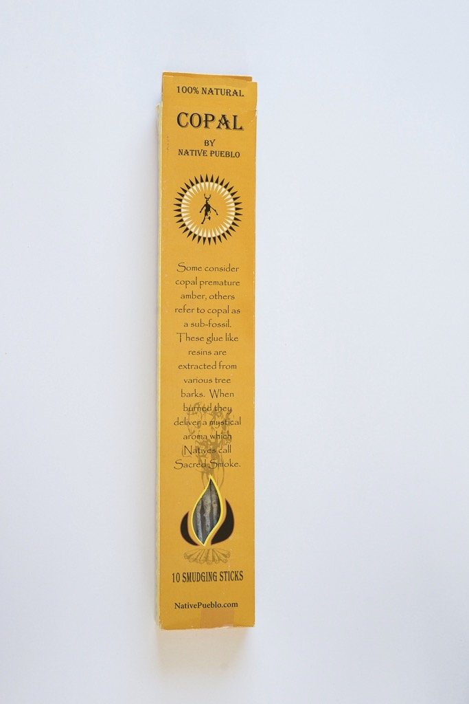 Native Copal Incense 100% Pure White Copal Healing Smoke Mayan Smudging Spiritual Protection Cleansing Incienso Hand Rolled Pueblo, Family Owned