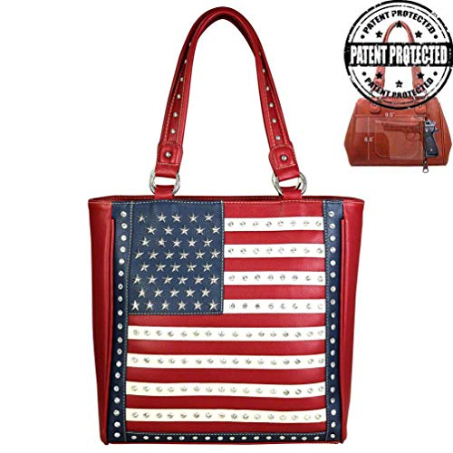 Montana West Womens Concealed Carry Tote Bag Purse American Pride Collection US04G-8113