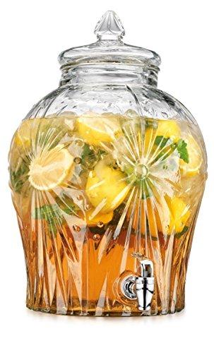 HC Glass Starburst Extra Large Glass Drink Beverage Dispe...