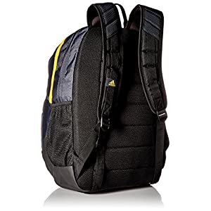 adidas Prime III Backpack, Night Grey/EQT Yellow, One Size