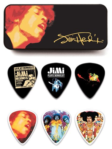 Dunlop JHPT03H Jimi Hendrix Electric Ladyland Pick Tin, Assorted, Heavy, 12 Picks/Tin ()