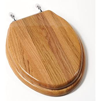 Comfort Seats CBEBR Designer Solid Wood Toilet Seat With PVD - Gold plated toilet seat