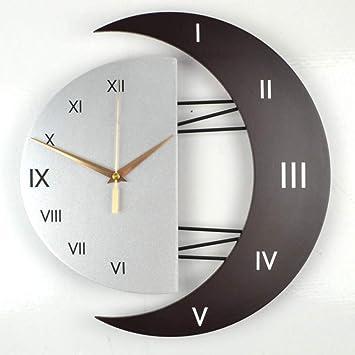 XIXIGZ Relojes De Pared Moderno Decorativo Reloj De Pared Mudo Reloj De La Sala De Estar Personalidad Simple Gráficos De Pared Dormitorio De Moda Reloj De ...