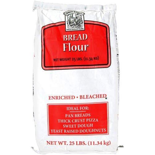 Bakers & Chefs Bread Flour - 25 lb. bag - CASE PACK OF 4