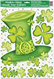 Unique Party St Patricks Day Lucky Stripes Window Cling Decoration