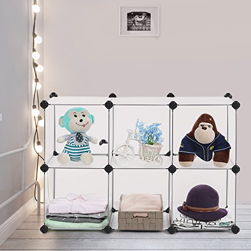 SONGMICS Storage Cube Organizer DIY Closet Cabinet Chests Space-saving ULPC06W Photo #6