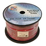 Blast King IR2X16B 16 Gauge Speaker Wire, 500-Feet