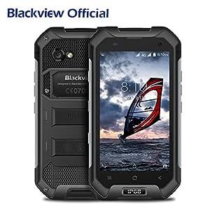 "Blackview BV6000S IP68 Smartphone libre - Impermeable Antipolvo Antigolpes Dual SIM Android 6.0 Móvil libre 4500mAh Batería, 2GB RAM, 16GB ROM, 4G, Cámara de 8MP/5MP, 4.7""HD, Quad Core Rugged Smartphone"