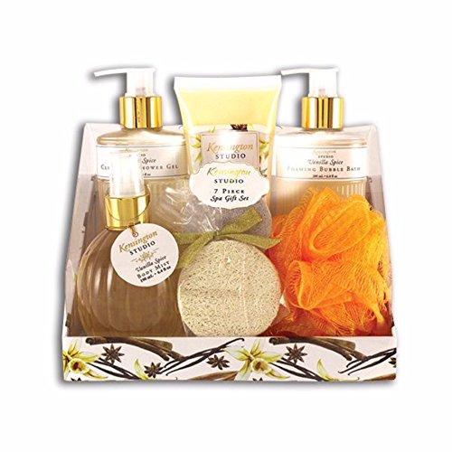 Kensington Studio 7-Piece Spa Gift Set Body Wash Gift Set (7-Piece Gift Set, Vanilla Spice)
