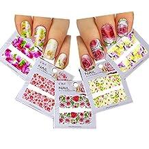 Nail Art Water Slide Tattoo Decals ♥ Full-Cover ♥ Blossom Flowers, 5 - pack ♥ /CII/ // Nail Art Water Slide Autocollants de tatouage ♥ ♥ plein Cover Blossom Fleurs, 5 - Pack ♥ / CII /