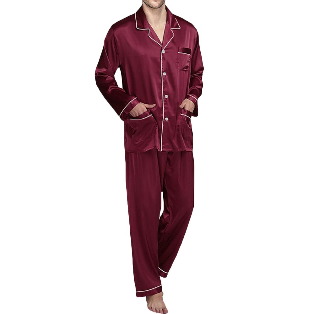 YIMANIE Mens Silk Satin Pajamas Set Sleepwear Loungewear YMN-SY-SE-09