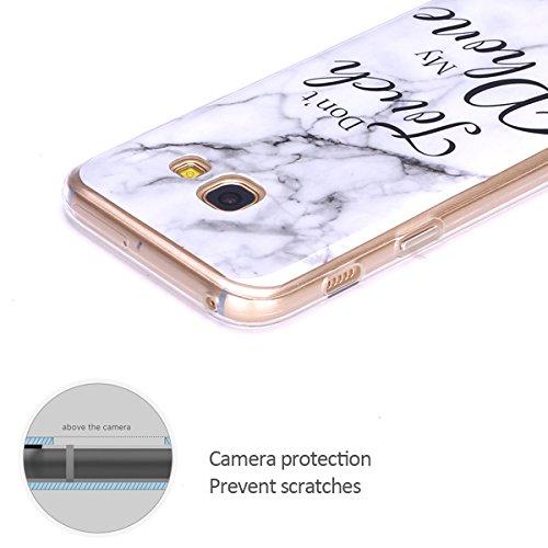 Funda Galaxy A3 2017 , Case Cover para Samsung Galaxy A3 2017 E-Lush Mármol Suave Silicona TPU Carcasa Ultra Delgado Flexible Gel Parachoques Goma Mate Opaco Bumper Amortigua Golpes Protectiva Caso pa Touchphone