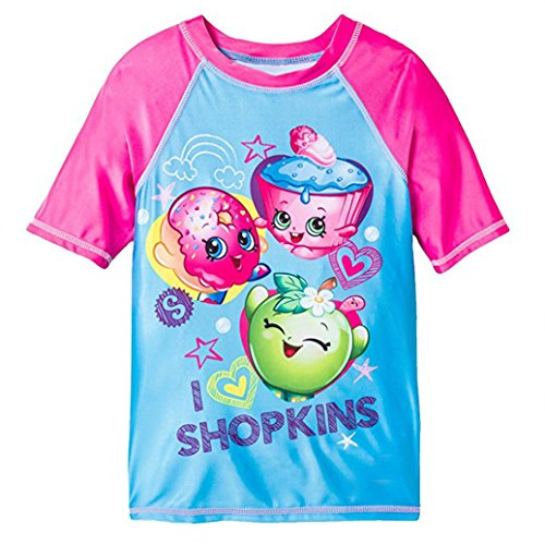SPK Shopkins Shopkins Girls Rash Guard Swimwear Top (7/8, SPK Love) by Shopkins (Image #1)