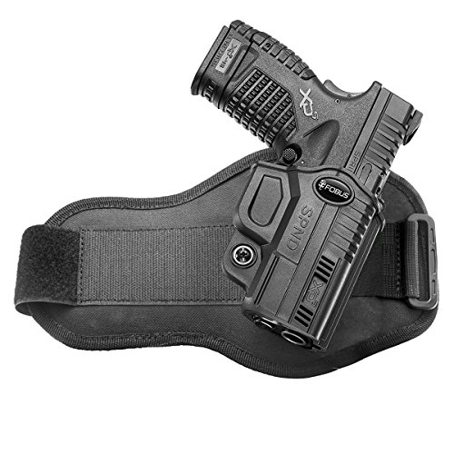 """Fobus Concealed Ankle Holster for Springfield XDS, 3.3"""" & 4"""", 9mm, .40cal & .45cal - SPND A"""