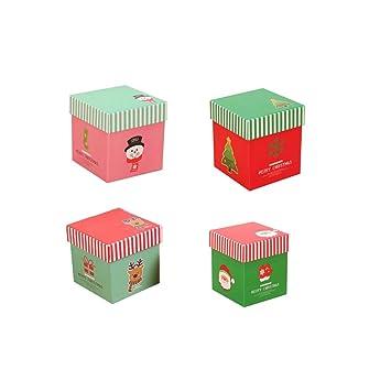 mromick 4pcs de Navidad caja de Navidad cajas de regalo de Navidad Eve apple Candy cajas cajas: Amazon.es: Hogar