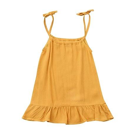 Amazon.com: EnjoCho Vestido corto de verano para bebés y ...
