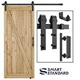 6 FT Heavy Duty Sturdy Sliding Barn Door Hardware Kit, 6ft Single Rail