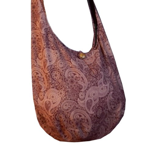 Merlot Bag Sling Pl20 Large Hobo Cotton Hippie Messenger Crossbody Purse Paisley BTP Thai Print aS7xq