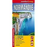 Normandía, mapa de carreteras plastificado. Escala 1:300.000. ExpressMap. (Comfort ! Map)