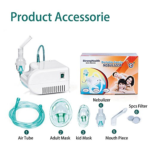Steam Compressor includes Kits for Home Use - 1 Year Warranty - Adult Nebulizer