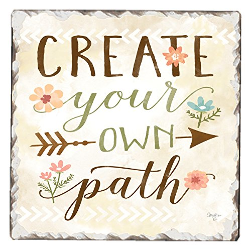 - CounterArt Single Tumbled Tile Absorbent Coaster, Create Your Own Path