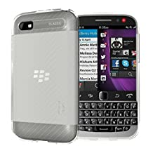 TUDIA Ultra Slim LITE TPU Bumper Protective Case for BlackBerry Classic Smartphone (2014 Released) (Frosted Clear)
