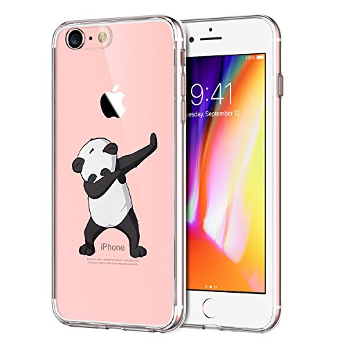 IPhone 7 Case ,Flyeri Crystal Panda Fashion Flowers marble Transparent Clear Soft silicone TPU Ultra thin Phone cover back cases For apple iPhone 7 (3)