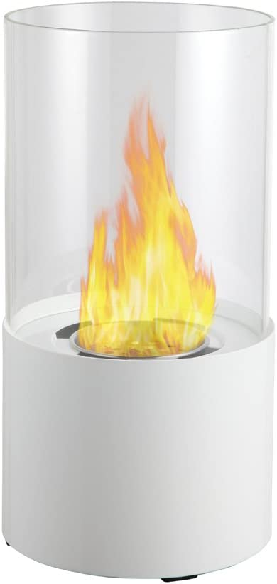 Ignis Ventless Bio Ethanol Fireplace Circum White