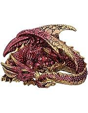 Nemesis Now Aaden röd och gyllene vilande drakfigur, 10,2 cm
