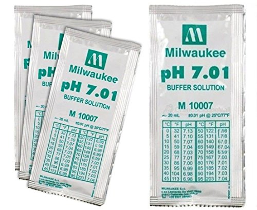 Packet 7.01 Buffer (3 Pcs Prime Popular pH7.01 Buffer Packets Tester Acid Alkaline Calibration Volume 20mL)