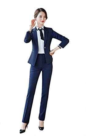 514b0e32db74 SK Studio Damen Elegant Business Anzug Set Slim Fit Klassischer Taillierter  Blazer und Rock Hosenanzuge