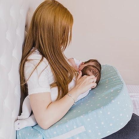 Cojin de lactancia gemelar desenfundable. Lactancia gemelos mellizos o lactantes mixtos o tamdem by Mimuselina (ESTRELLAS MINT)