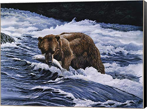 - Fisherman by Don Balke Canvas Art Wall Picture, Museum Wrapped with Black Sides, 24 x 18 inches